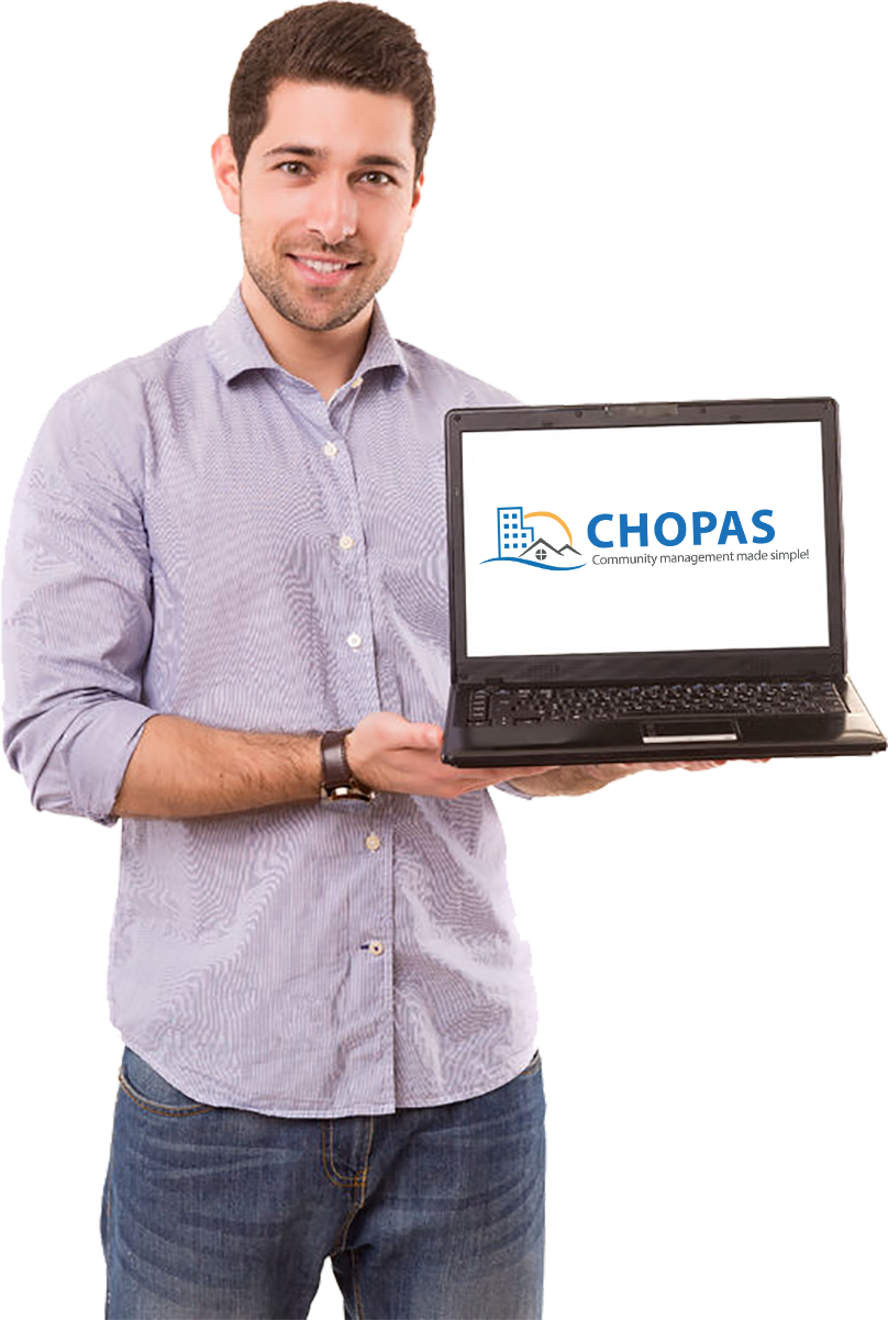 Manager using CHOPAS on laptop